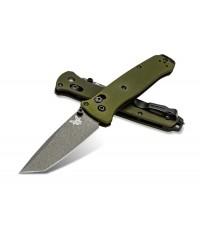มีดพับ Benchmade Bailout CPM-M4 Tanto Plain Blade, Woodland Green Aluminum Handles (537GY-1)
