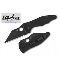 มีดพับ Spyderco Yojimbo 2 Folding Knife S30V Black DLC Plain Blade, Black G10 Handles (C85GPBBK2)
