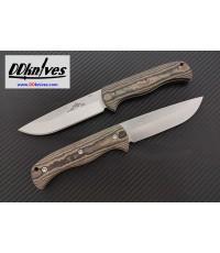 มีดใบตาย Emerson Overland Renegade SF Fixed Stonewashed Plain Blade, Maple Richlite Handles