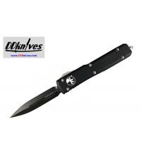 มีดออโต้ Microtech Ultratech D/E OTF Automatic Knife Black Blade, Black Handles (122-1)