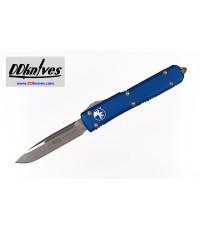 มีดออโต้ Microtech Ultratech S/E OTF Automatic Knife Stonewash Blade, Blue Handles (121-10BL)