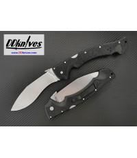 มีดพับ Cold Steel Rajah II Folding Knife AUS-10A Stonewash Blade, Griv-Ex Handles (62JL)