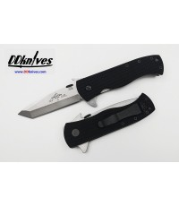 มีดพับ Emerson CQC-7F-SF Flipper S35VN Stonewash Tanto Blade with Wave, Black G10 Handles (C7F-SF)