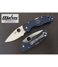 มีดพับ Spyderco Native 5 Folding Knife S110V Satin Plain Blade, Dark Blue FRN Handles (C41PDBL5)