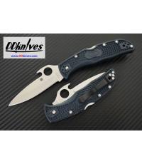 มีดพับ Spyderco Endela Folding Knife VG10 Satin Plain Blade with Wave, Gray FRN Handles (C243PGYW)