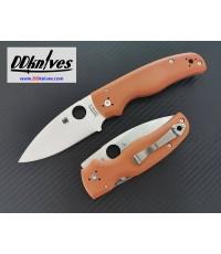 มีดพับ Spyderco Shaman CPM-REX 45 Plain Blade, Burnt Orange G10 Handles, Sprint Run (C229GPBORE)