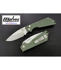 มีดออโต้ Pro-Tech Strider SnG Automatic Knife Plain Blade, Green Aluminum Handles (2401-GREEN)