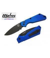 มีดออโต้ Pro-Tech Strider SnG Automatic Knife Black Plain Blade, Blue Aluminum Handles (2403-BLUE)