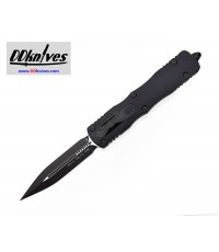 มีดออโต้ Microtech Dirac Delta D/E OTF Automatic Knife Tactical Black Blade, Black Handles (227-1T)