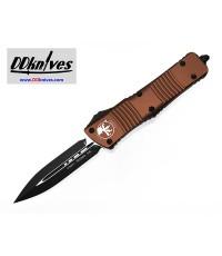 มีดออโต้ Microtech Combat Troodon D/E OTF Automatic Knife Black Blade, Tan Handles (142-1TA)