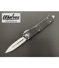 มีดออโต้ Microtech Combat Troodon D/E OTF Automatic Knife Satin Blade, Black Handles (142-4)