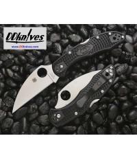 มีดพับ Spyderco Delica 4 Wharncliffe Folding Knife VG10 Plain Blade, Black FRN Handles (C11FPWCBK)