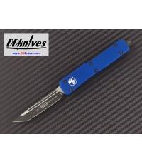 มีดออโต้ Microtech UTX-70 T/E OTF Automatic Knife Black Blade, Blue Handles (149-1BL)