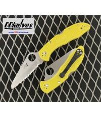 มีดพับ Spyderco Salt 2 Folding Knife H1 Serrated Blade, Yellow FRN Handles (C88SYL2)