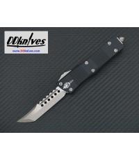 มีดออโต้ Microtech Troodon Hellhound Tanto OTF Knife Stonewash Blade, Black Handles (619-10S)