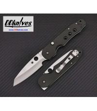 มีดพับ Spyderco Smock Folding Knife S30V Satin Plain Blade, Carbon Fiber/G10 Handles (C240CFP)