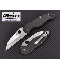 มีดพับ Spyderco Canis Folding Knife S30V Satin Plain Blade, Carbon Fiber/G10 Handles (C248CFP)