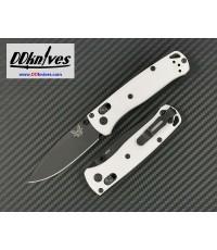 มีดพับ Benchmade Mini Bugout S30V Black DLC Plain Blade, White Grivory Handles (533BK-1)