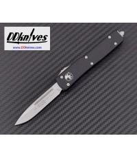 มีดออโต้ Microtech UTX-70 S/E OTF Automatic Knife Stonewash Blade, Black Handles (148-10)