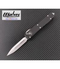 มีดออโต้ Microtech Ultratech D/E OTF Automatic Knife Stonewash Blade, Black Handles (122-10)