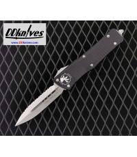 มีดออโต้ Microtech Combat Troodon D/E OTF Automatic Knife Stonewash Blade, Black Handles (142-12)