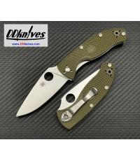 มีดพับ Spyderco Tenacious Lightweight Folding Knife Satin Plain Blade, OD Green FRN Handles(C122POD)