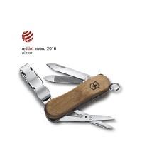 กรรไกรตัดเล็บ Victorinox Nail Clip Wood 580, Walnut (0.6461.63-X2)