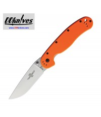 มีดพับ Ontario RAT Model 1 Folding Knife Satin D2 Plain Blade, Orange Nylon Handles (8867OR)