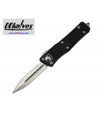 มีดออโต้ Microtech Troodon D/E OTF Automatic Knife Stonewash Blade, Black Handles (138-10)