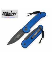 มีดออโต้ Microtech LUDT Automatic Knife S/E Black Blade, Blue Handles (135-1BL)