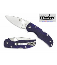 มีดพับ Spyderco Native 5 Folding Knife S110V Satin Plain Blade, Blue/Purple G10 Handles (C41GPDBL5)