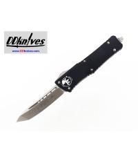 มีดออโต้ Microtech Combat Troodon T/E OTF Automatic Knife Stonewash Blade, Black Handles (144-10)