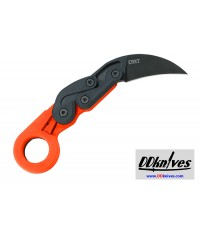 มีดคารัมบิท CRKT Provoke Orange Kinematic Morphing Karambit Folding Knife, Orange Handles (4041O)