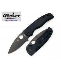 มีดพับ Spyderco Shaman Folding Knife S30V Black Plain Blade, Matte G10 Handles (C229GPBK)