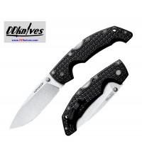 มีดพับ Cold Steel Large Voyager Drop Point Folding Knife AUS-10A Plain Blade, Griv-Ex Handles (29AB)
