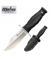 มีดใบตาย Cold Steel Mini Leatherneck Fixed Blade Knife Clip Point, Secure-Ex Sheath (39LSAB)