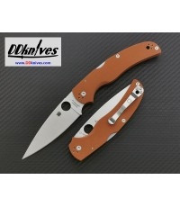 มีดพับ Spyderco Native Chief CPM-REX 45, Burnt Orange G10 Handles, Sprint Run (C244GPBORE)