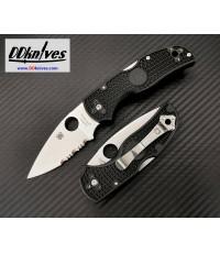 มีดพับ Spyderco Native 5 Folding Knife S35VN Satin Combo Blade, Black FRN Handles (C41PSBK5)