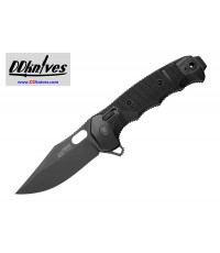 มีดพับ SOG SEAL XR Flipper Knife Black TiNi S35VN Clip Point Blade, Black GRN Handles (12-21-02-57)