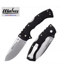 มีดพับ Cold Steel 4-Max Scout Folding Knife AUS-10A Stonewashed Blade, Black Griv-Ex Handles (62RQ)