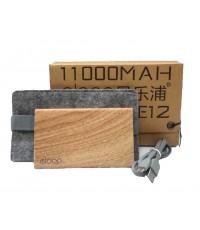 NEW !  ELOOP E12 Power bank แบตสำรอง 11000 mAh ลายไม้