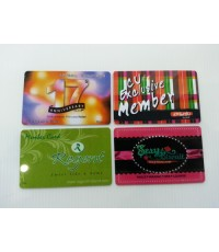 พิมพ์บัตรพลาสติก พีวีซี  บัตรสมาชิก บัตรส่วนลด บัตรโปรโมชั่น 4 สี 2 หน้า โทร 0813745428,0818112040