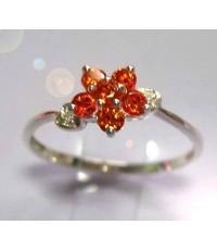แหวนดอกไม้ส้ม