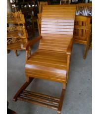 เก้าอี้ม้าโยกไม้สักทอง