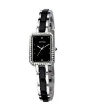 Kimio นาฬิกาข้อมือผู้หญิง สายแสตนเลส รุ่น K452L - Black/Silver