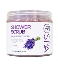 DL SPA Lavender Shower Scrub 500g
