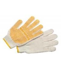 ถุงมือผ้าฝ้ายทอ เสริมจุดพลาสติก SK-ICPD