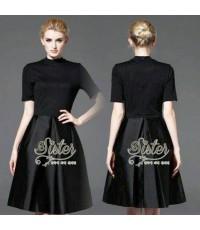 Preorder เดรสสีดำลุคเรียบหรู การันตี 2sister made, Dark Lovely Adorable Dress