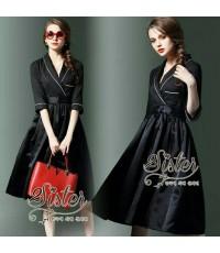 เดรสลุคเรียบหรู สุภาพใส่ไปงานการันตี 2sister made, Black Lovely Gorgeous Modern Dress
