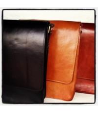 กระเป๋าสะพายหนังแท้ทรงตั้งใส่ A4หนังอย่างดีสีดำ น้ำตาล แทน